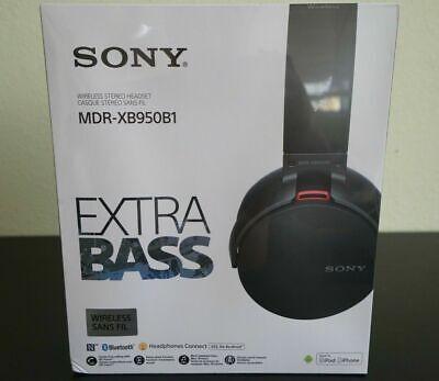 Sony MDR-XB950B1 Extra Bass Wireless Headphones Black Factory Sealed NEW