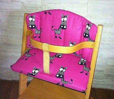 Kissenset Sitzverkleinerer pink grün f. Stokke Tripp Trapp Babyset Hochstuhl NEU