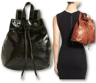 NWOT Hobo International Kendall Black Small Leather Backpack Vintage Hide $228