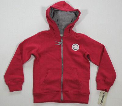 Neu All Star Converse Mädchen Sport Kapuzensweater Hoodie Jacke Gr.110-116  Mädchen Converse Hoodie