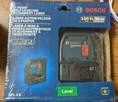 Bosch 100 3-point Self-leveling Alignment Laser Gpl 3 S Black New Sealed