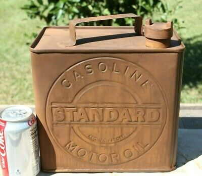 Standard Oil Gas Can Rusted Look Replica Old Gas Station Decor