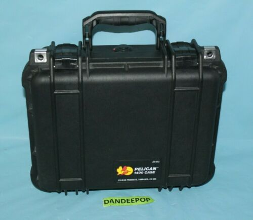 Pelican 1400 Storage Hard Case Photo Media Electronics Watertight With Foam