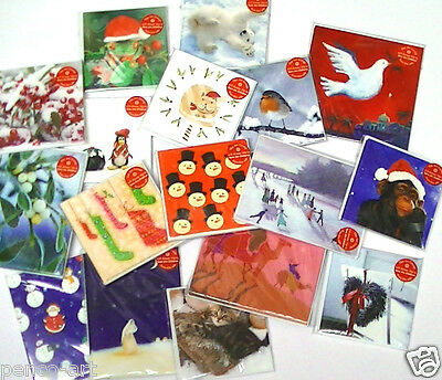 ArtGroup Charity Christmas cards penguin snowman mistletoe kings robin Pk5 or 10 ()