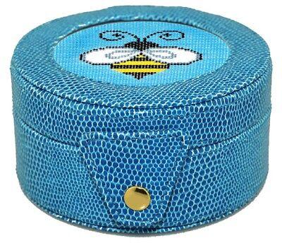 (Needlepoint LEE Gift Box LEATHER Blue)
