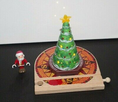 BRIO Polar Express Wooden Train Set Light-Up Christmas Tree + Santa Figure 32502