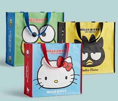 Christmas Hello Kitty Limited Edition Shopping Tote Bags World Market - Set of 3 ()