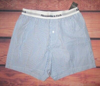 MENS ABERCROMBIE & FITCH BLUE BOXER SHORTS SIZE S