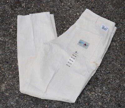 NWT! ACE DROP CLOTH TRADESMAN MENS 36 X 34 PAINTER PANTS WHITE MADE IN USA