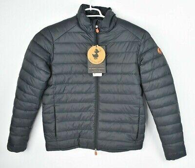 NEW Save the Duck Men's Fleece Lined Warm Puffer Jacket Giga Black Size Medium