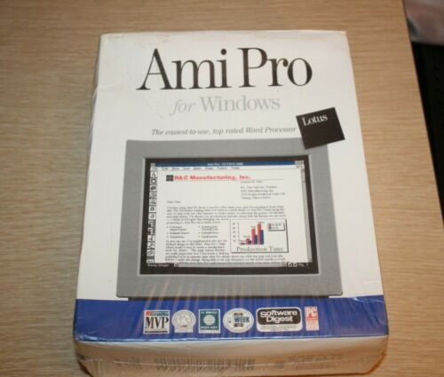 Ami Pro Lotus For Windows 3.0 Or Higher Release 1.2 Dual Media Retail 1991 NEW