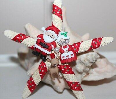 Christmas Starfish Beach Ornament Coastal Home Decor Santa Mrs Claus Reindeer