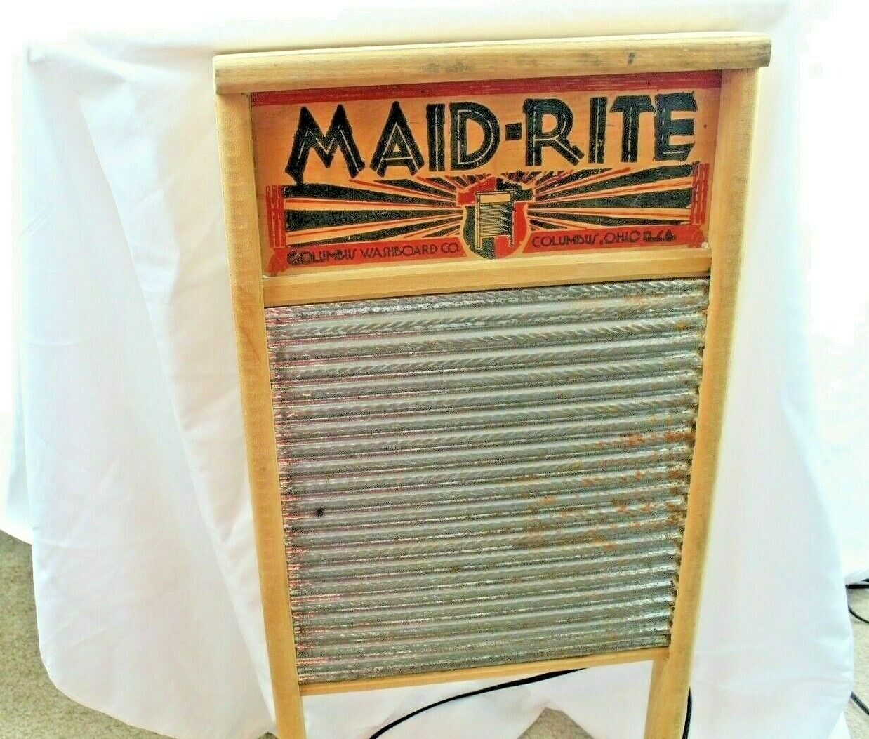 Maid-Rite Wash Board Columbus Washboard Co. 12.5 X 24  - $26.36