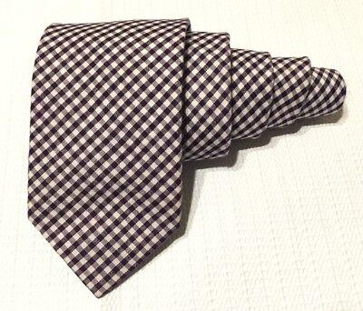 "Used, J.Crew Purple & White Plaid Men's Necktie 40% Silk 60% Cotton, L 58"" w 3"" for sale  San Jose"