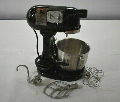 Hobart N50 Commercial 5 Quart 3 Speed Countertop Mixer Kitchen Bakery Black Rare