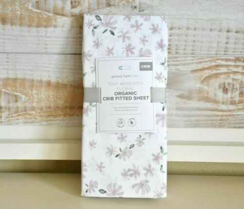 NEW Pottery Barn Kids Tiny Meredith Floral Organic Crib Sheet Lavender NWT