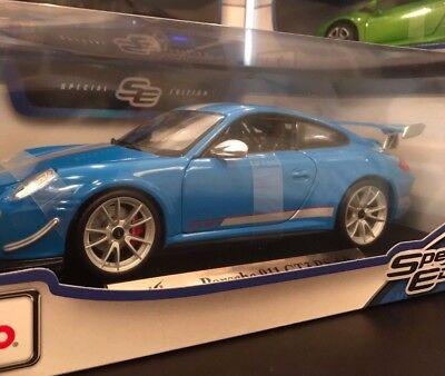 Maisto Porsche 911 GT3 RS 4.0 1:18 Diecast Model Car Blue