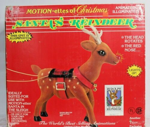 Vintage Rudolph the Red Nosed Reindeer Telco Motionette Animated Christmas