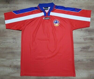 Armenia Soccer Jersey Football Shirt Lotto 100% Original Men's L 2001 Home USED  image