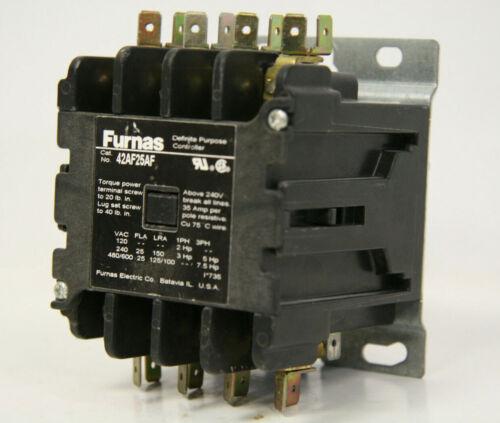 Furnas 42AF25AF Definite Purpose Contactor 110/120V 50/60Hz Coil 4 Pole