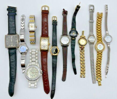 Lot of 12 PEUGEOT Watches - Steel/Leather, Modern, Quartz Men