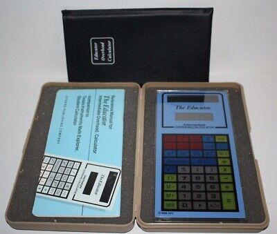 Educator Intermediate Calculator Overhead Projector W Case Vintage 1990 Glass