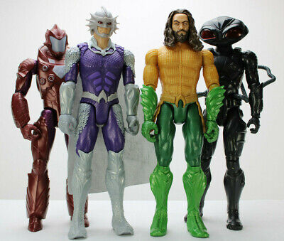 "DC Comics Aquaman 12"" Action Figures Lot of 4 Black Manta Orm Gen Murk Mattel"