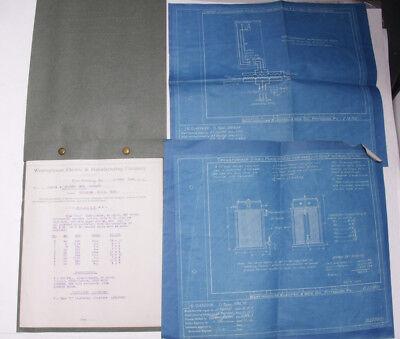1911 Lamson Goodnow BLUEPRINTS Westinghouse Electric Pittsburgh PA Ephemera N01K