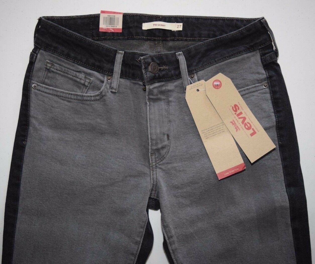 Levi's 711 Women's Skinny BLACK & GREY Jeans 188810195