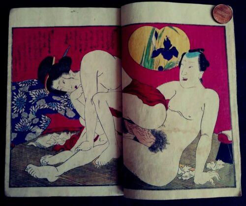 JAPANESE EROTIC SHUNGA  WOODBLOCK PRINTS