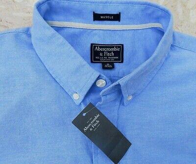 BNWT Fabulous ABERCROMBIE & FITCH 'Muscle' Man's Soft Denim Look Shirt sz...