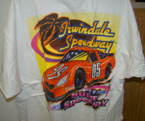IRWINDALE SPEEDWAY XX-LARGE White with decal NEW IN SEALED PKG T-SHIRT