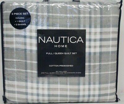 *NEW* Nautica 3-piece Quilt Set, Millbrook Full/Queen