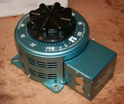 Staco 2520ct Variable Transformer -- 0-240280v10a 2.8kva Max - In 240vac