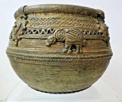 Antique Handmade Bronze Grain Measuring Bowl Dhokra Orrisa Lost Wax Casting