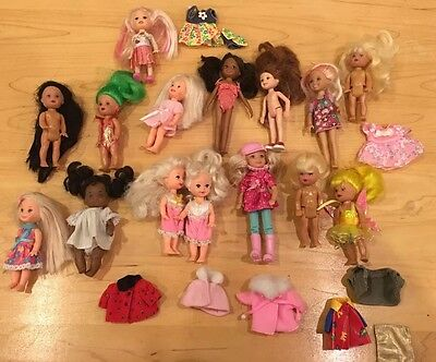 Mattel KELLY CHELSEA DOLL Kid Barbie Sister LOT Dolls Barbie Friends Clothes