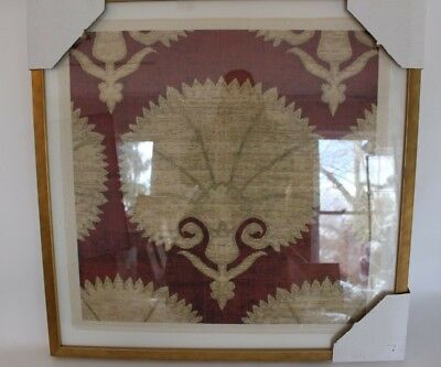 New Williams Sonoma Ottoman Textiles, 4, framed art artwork gold burgundy Burgundy Gold Art Print