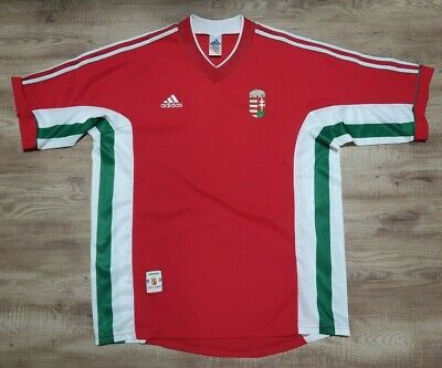 Hungary Soccer Jersey Football Shirt adidas 100% Original 1998/1999 L #8 Used image