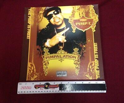 Pimp C Pimpilation Promo Poster 12x12 Flat Piranha Records