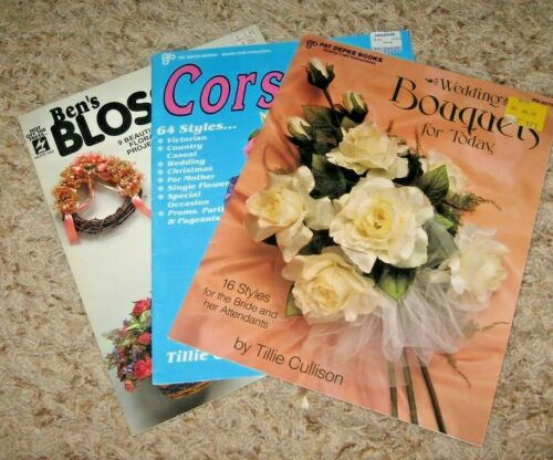 VINTAGE~~LOT OF 3~WEDDING  BOUQUETS, CORSAGES, BLOSSOMS~GD/VGC~~LOT #G