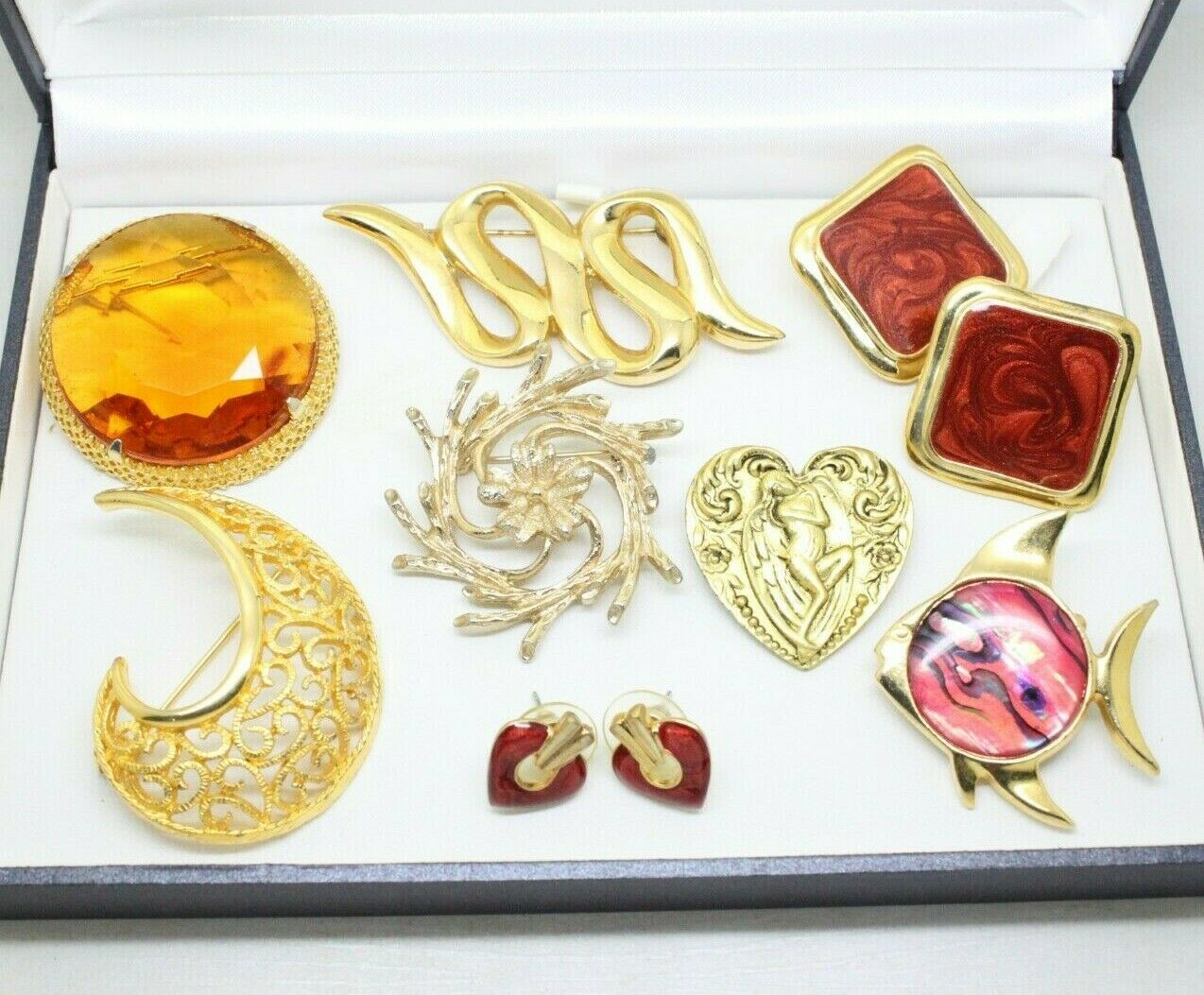 jewellery vintage - Lovely Vintage Jewellery Lot BROOCHES EARRINGS Signed Sarah Coventry Hollywood