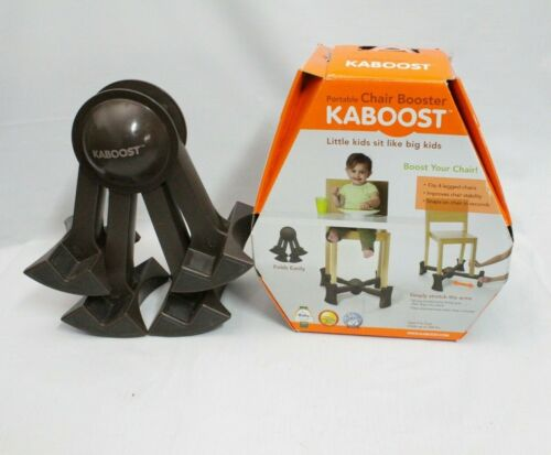 Kaboost Portable Chair Booster Child Toddler Traveling Booster Lift Seat Brown
