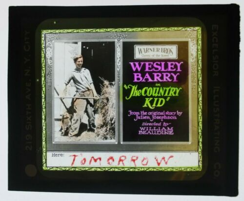 The Country Kid 1923 glass slide - Wesley Barry - free shipping