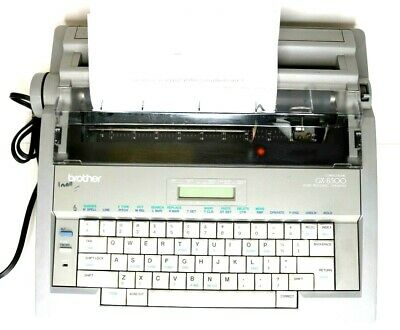 Brother Gx-8500 Electric Correctronic Word Processing Typewriter Wcover Working