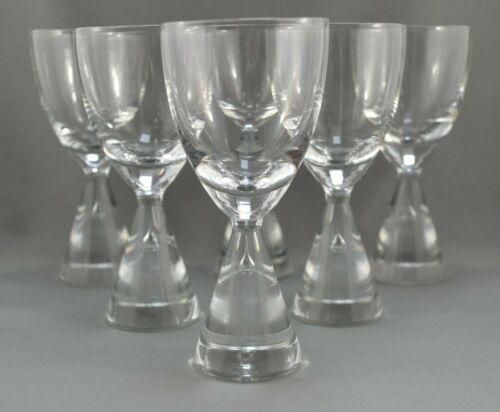 Vintage Holmegaard Denmark - Princess - 5 1/2 inch White Wine Glasses - Set of 6