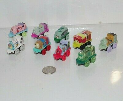 Thomas & Friends Train Tank MINIS Complete Spongebob Squarepants 9-Pack Set Lot