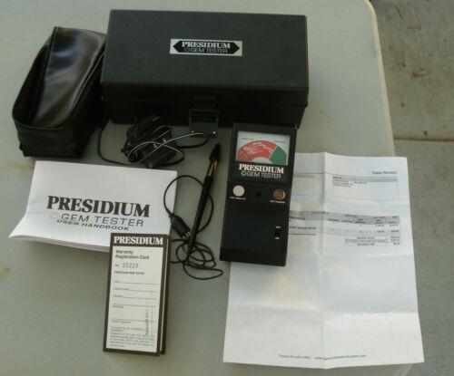Presidium Gem Tester with accesories in orig case Nov 2007 in working condition