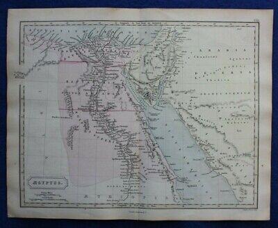 ANCIENT EGYPT, 'AEGYPTUS', RED SEA, ARCADIA, original antique map, Butler, 1861