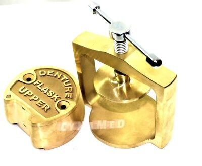 Premium Dental Laboratory Lab Spring Press Compress Wone Brass Denture Flask