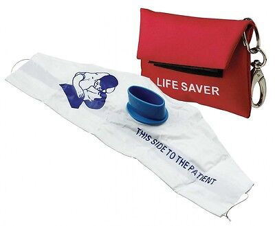 Red Cpr Mask Key Chain Pouch Gloves Sealed Emt Ifak First Aid Kit Emergency